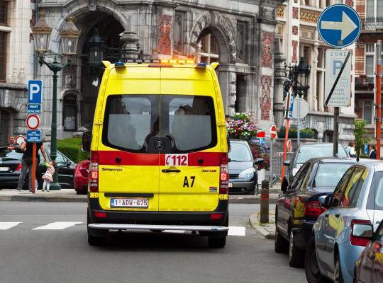 Ziekenwagen in Brussel